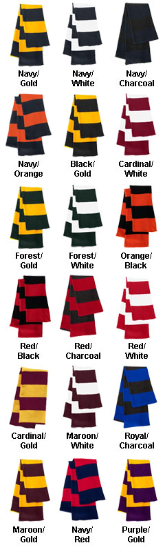 Sportsman Rugby Striped Knit Scarf - All Colors