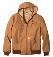 49044d61f29 Custom Carhartt Duck Active Jacket Water Repellent w Thermal Lined Mens