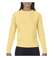 Comfort Colors Womens Garment-Dyed Wide-Band Crew Neck Fleece