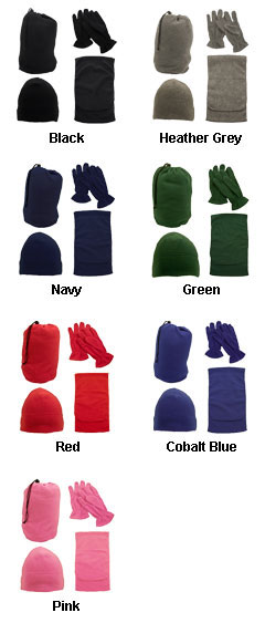 4-In-1 Fleece Gift Set - All Colors