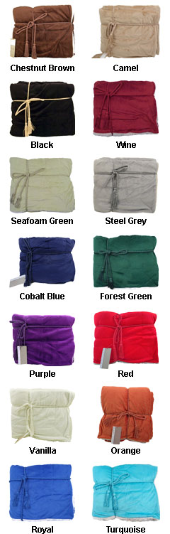 Cozy Lambswool Microsherpa Blanket - All Colors