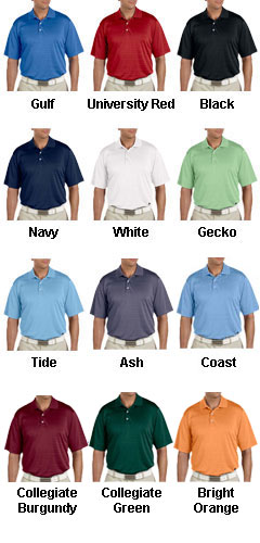 Adidas Golf Mens ClimaLite® Textured Short-Sleeve Polo - All Colors