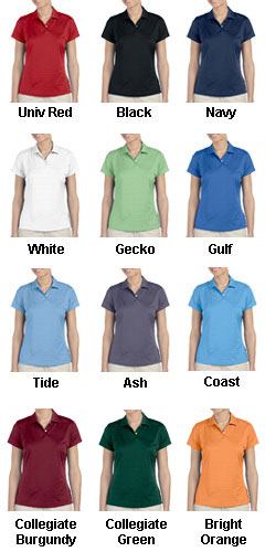 Adidas Golf Ladies ClimaLite® Textured Short-Sleeve Polo - All Colors