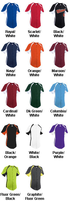 Custom Adult Clutch Full Button Baseball Jersey - All Colors