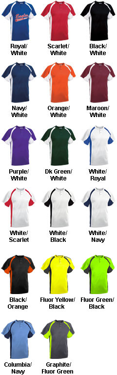 Custom Adult Line Drive 2-Button Baseball Jersey - All Colors