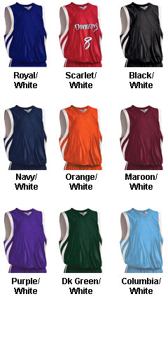 Custom Youth Downtown Reversible Basketball Jersey - All Colors