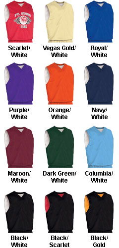 Custom Youth Fadeaway Reversible Basketball Jersey - All Colors