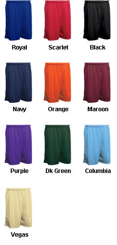 Adult Fadeaway Tricot Basketball Short - 11 inch Inseam  - All Colors