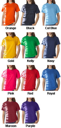 Gildan Tie-Dye Youth One-Color Fusion Tee - All Colors