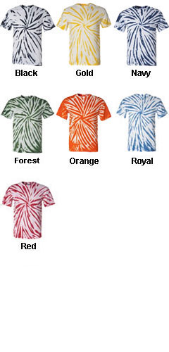 Adult Tie-Dyed Contrast Swirl T-Shirt  - All Colors