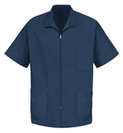 Custom Mens Zipper Front Smock