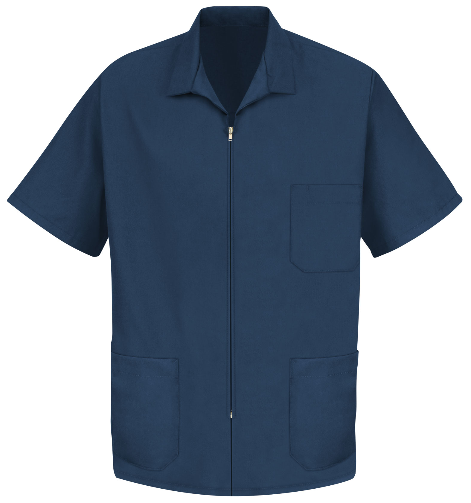 Customize Mens Zipper Front Smock