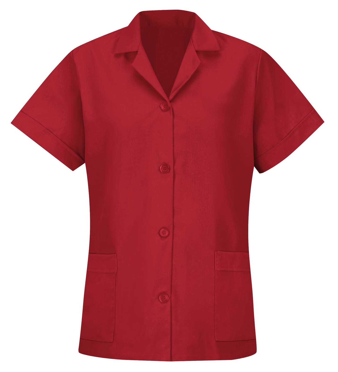 Womens Red Kap Loose Fit Short Sleeve Button Smock
