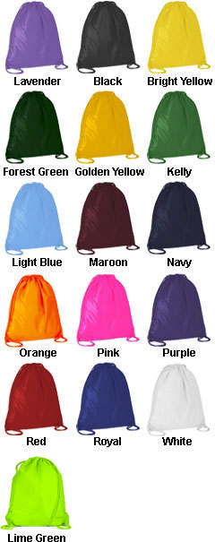 Large Drawstring Backpack - All Colors