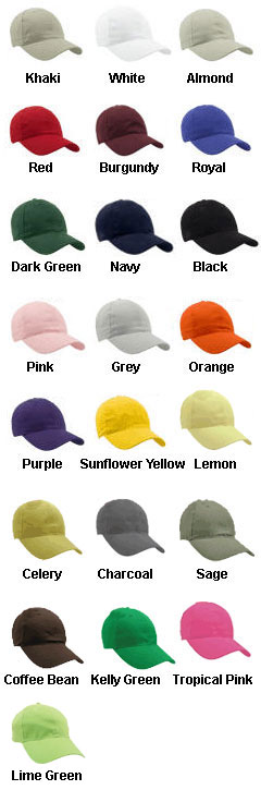 Lightweight Brushed Cotton Twill Cap - All Colors