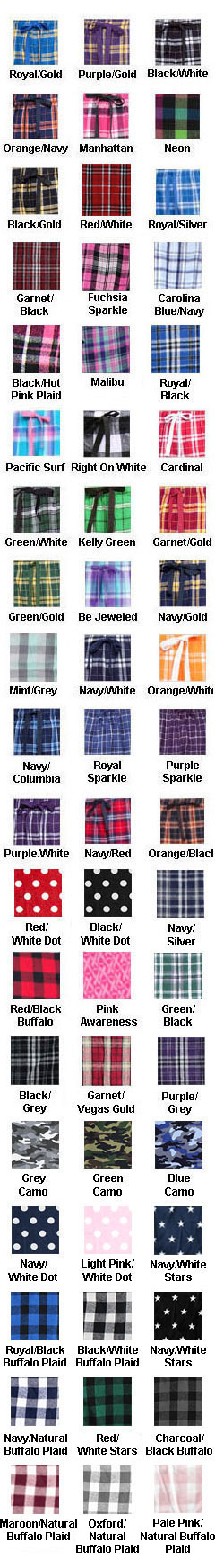 Adult Drawstring Flannel Pants - All Colors