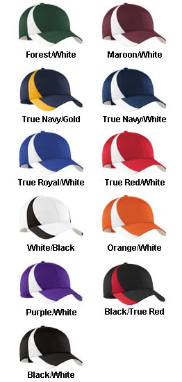 Adult Dry Zone™ Nylon Colorblock Cap - All Colors