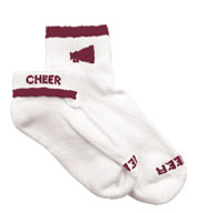 Custom Youth Girls Megaphone Cheerleader Socks