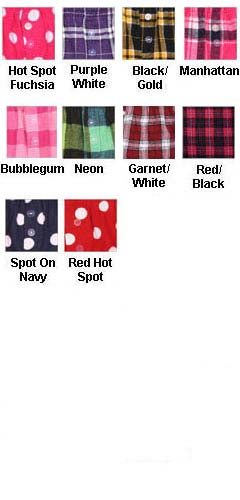 Juniors 100% Cotton Flannel Bitty Boxers - All Colors