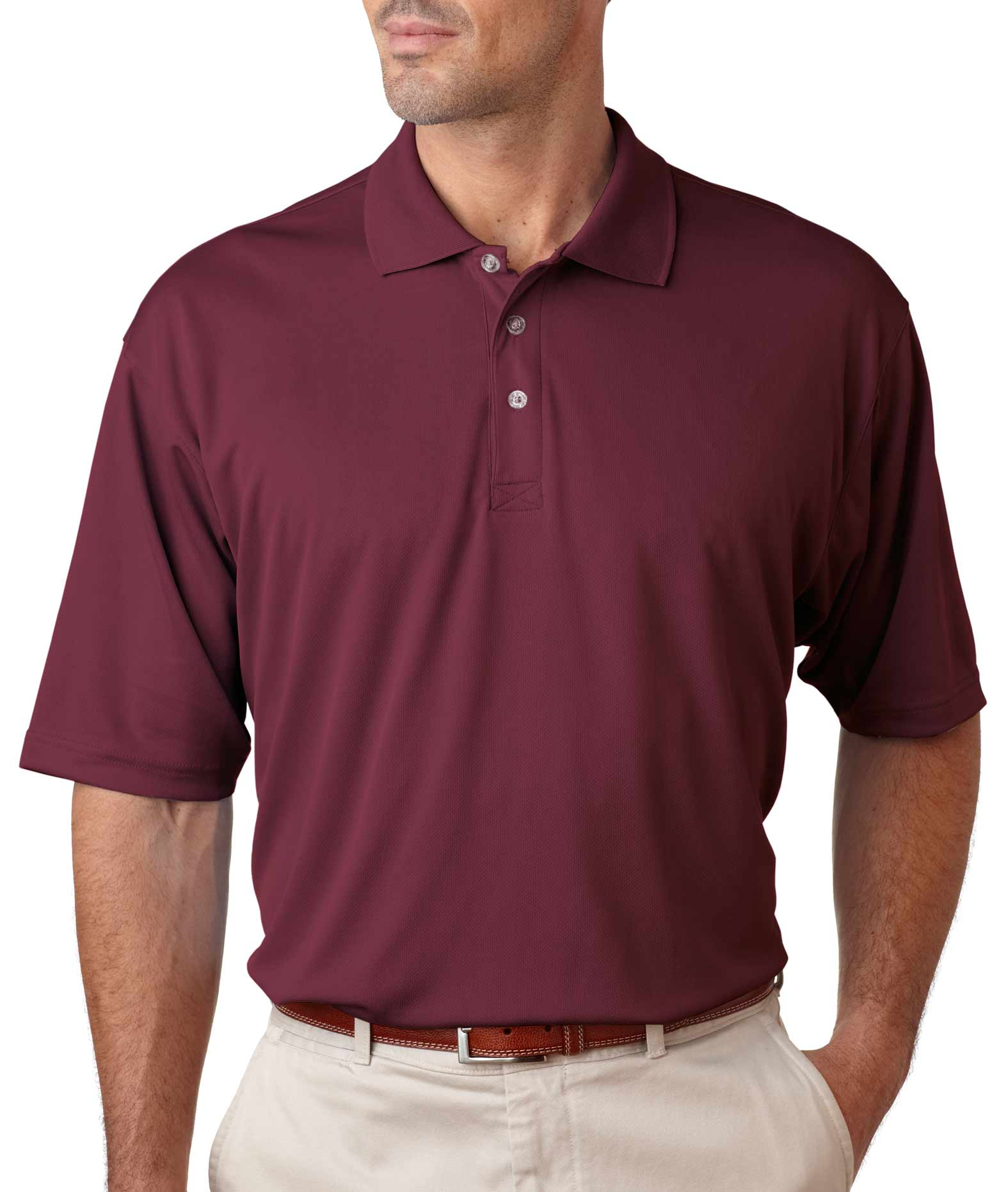 UltraClub Mens Cool & Dry Sport Polo