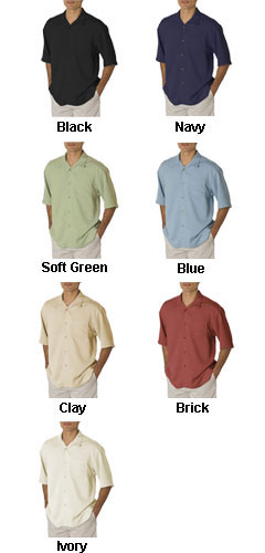 Bedford Cord Camp Shirt by Cubavera - All Colors