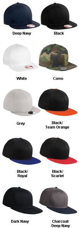 New Era® - Flat Bill SnapBack Cap - All Colors