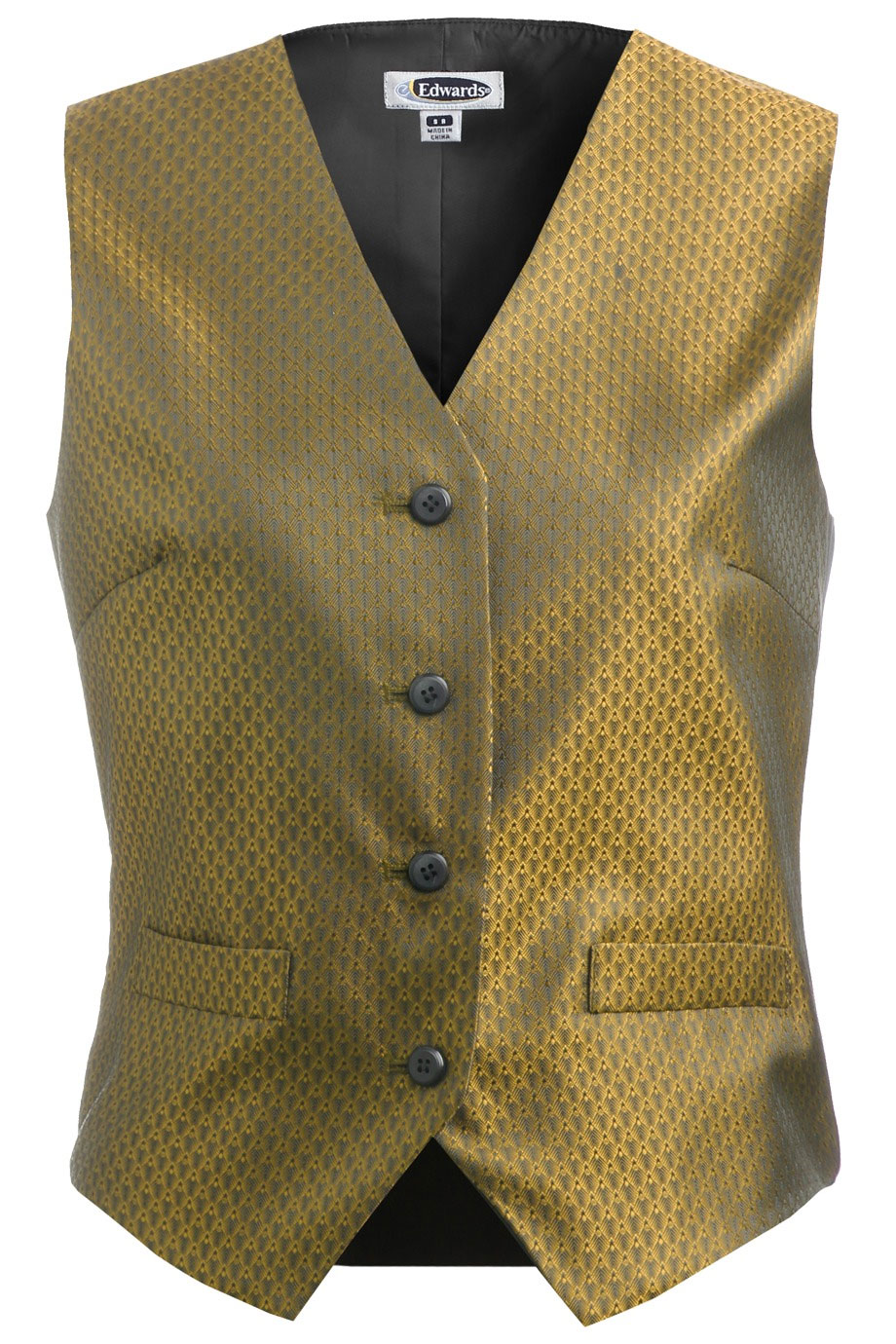 Womens Diamond Brocade Vest