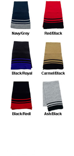 Deluxe Acrylic Scarf with Stripes - All Colors