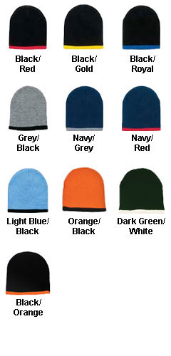 Two Color Beanie - All Colors