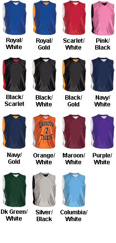 Womens Reversible Dazzler Basketball Jersey - All Colors