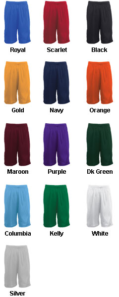 Adult Mesh Basketball Short - 11 inseam - All Colors