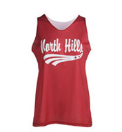 Custom Youth Girls Mini Mesh Reversible Tank