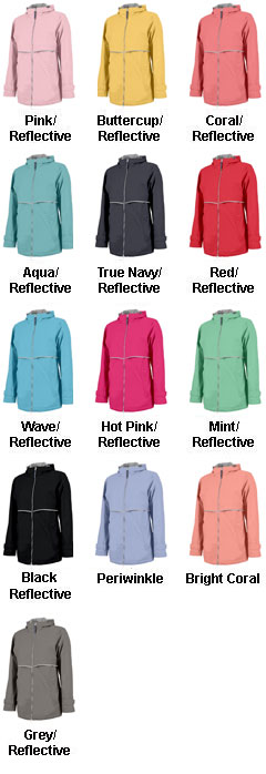 Womens New Englander Rain Jacket by Charles River Apparel - All Colors
