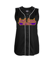 Custom Youth Girls Tag Up Full Button Sleeveless Softball Jersey