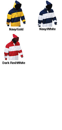 Adult Hooded Rugby Shirt - All Colors