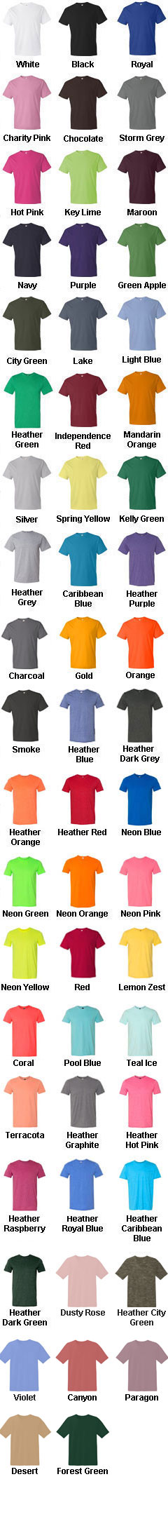 Anvil Mens 100% Ringspun Cotton Fashion Fit Tee - All Colors