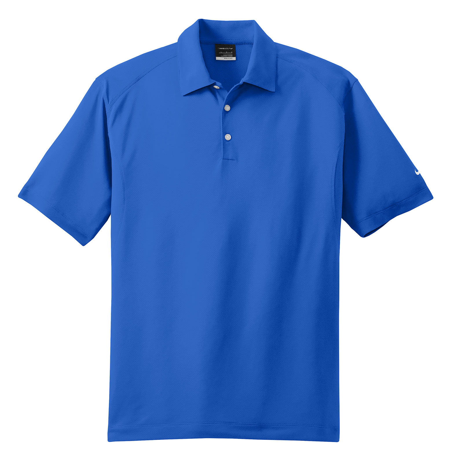NIKE Golf Mens Dri-Fit Mini Texture Sport Shirt