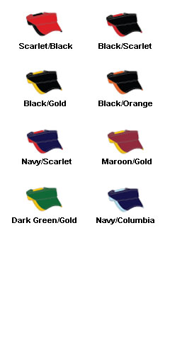 Adjustable Two-Tone Visor - All Colors