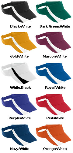 Youth Adjustable Wicking Mesh Two-Color Visor - All Colors