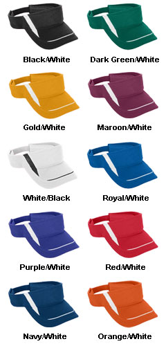 Youth Adjustable Wicking Mesh Edge Visor - All Colors