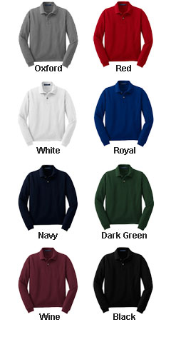 Youth Long Sleeve Pique Knit Sport Shirt - All Colors