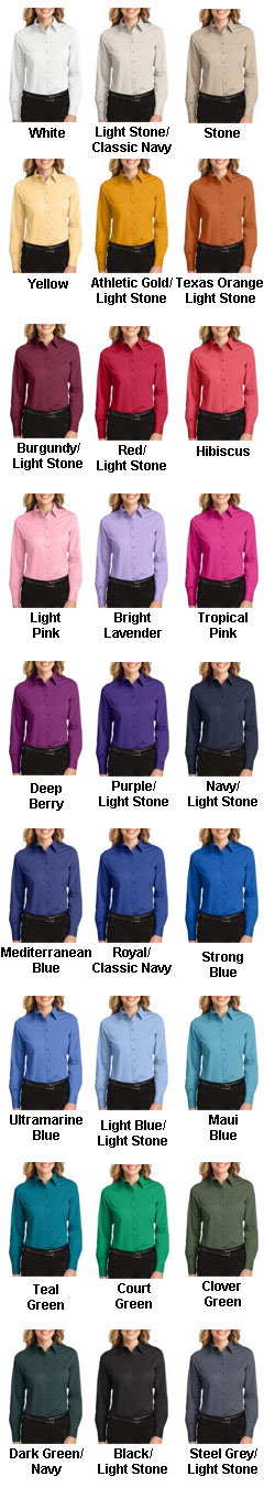 Ladies Long Sleeve Easy Care Shirt (S - 6XL) - All Colors