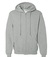Custom Adult Russell Dri-Power Fleece Full- Zip Front Hood