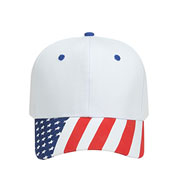 Custom Traditional Look Structured Firm Front American Flag Cap
