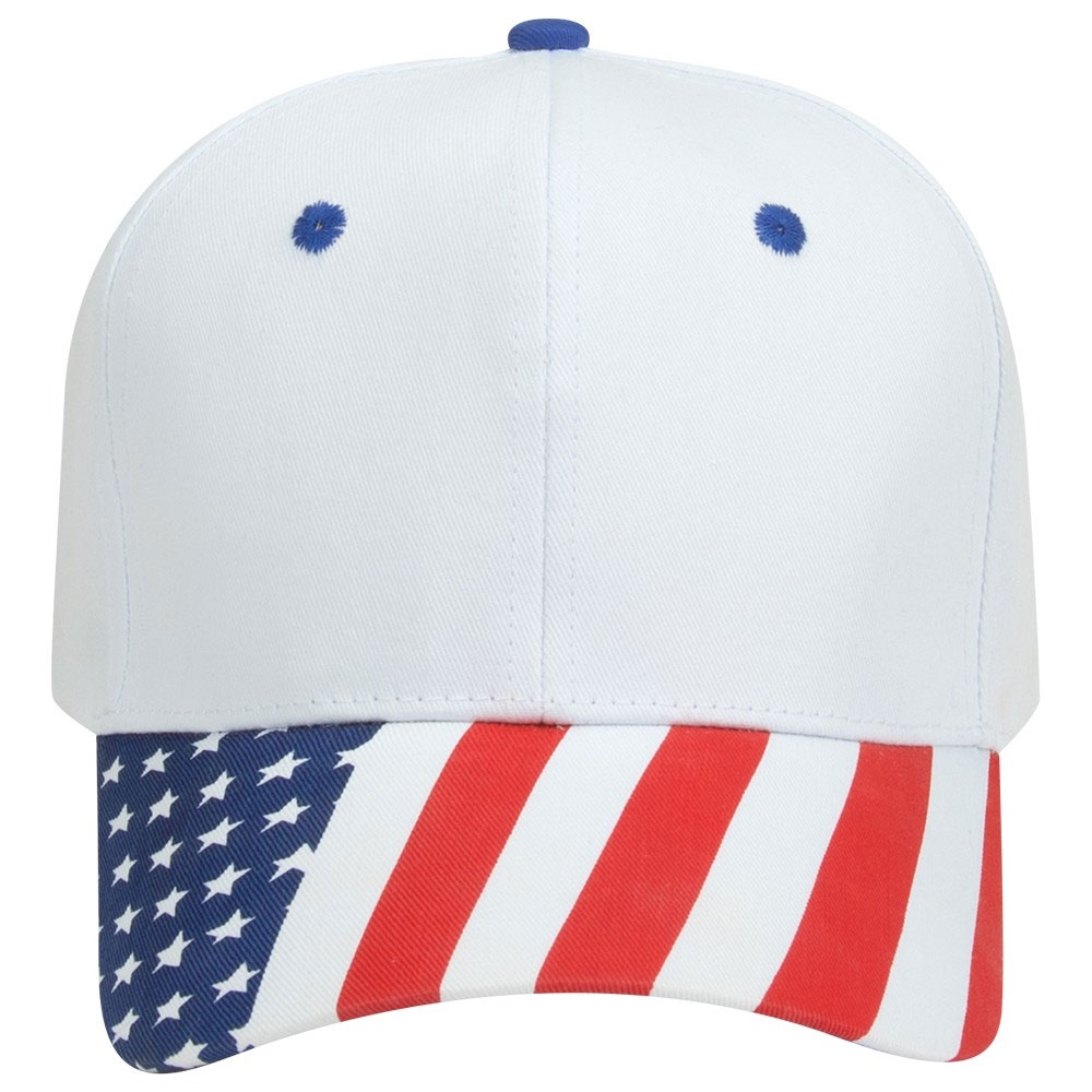 Traditional Look Structured Firm Front American Flag Cap