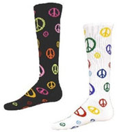 Youth Give Peace A Chance Multi Sport, Multi Color Peace Socks