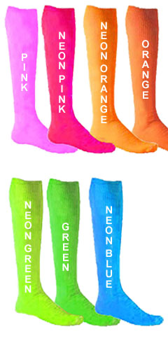 Intermediate Fluorescent Patriot Athletic Tube Socks - All Colors