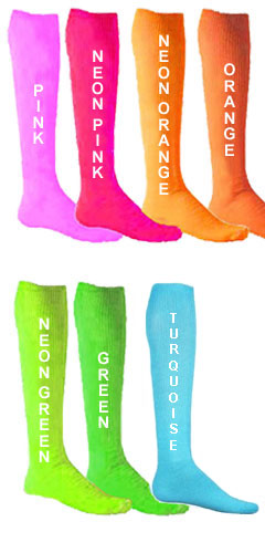 Adult Fluorescent Patriot Athletic Tube Socks - All Colors