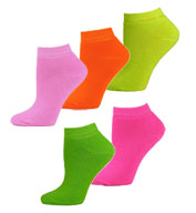 Custom Fluorescent Neon Ankle Socks in 6 Neon Colors