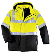 Custom ANSI Class 3 Safety Heavyweight Mens Parka